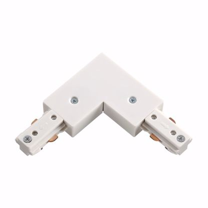 Изображение 135008 NT18 081 белый Соединитель с токопроводом для шинопровода L-образный