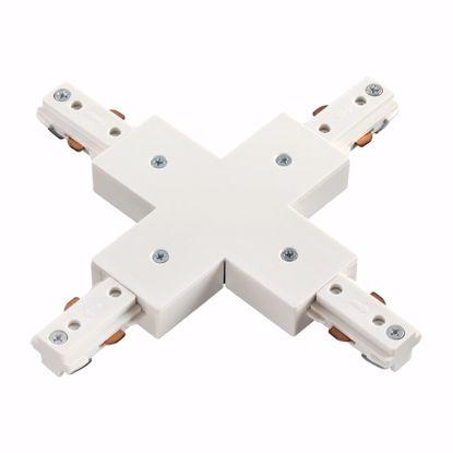 Изображение 135012 NT18 081 белый Соединитель с токопроводом для шинопровода X-образный